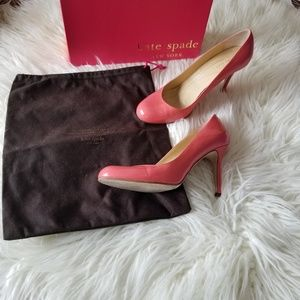 Kate Spade Strawberry Patent Heels Size 10